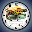 1955 Bel Air Convertible Wall Clock, Lighted