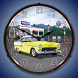 1955 Bel Air Mitch's Garage Wall Clock, Lighted