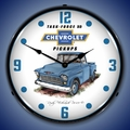 1955 Chevrolet Pickup Truck Wall Clock, LED Lighted
