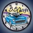 1955 Chevy Wall Clock, LED Lighted