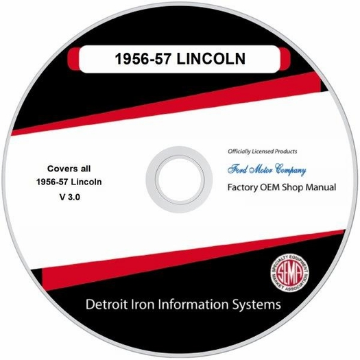 1956-1957 Lincoln OEM Manuals - CD