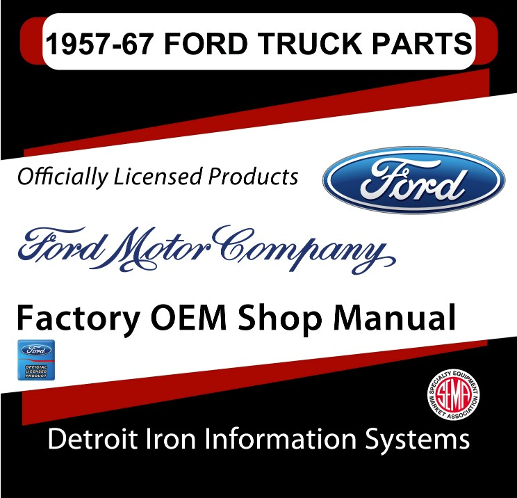 1957-1967 Ford Truck Parts OEM Manuals - CD