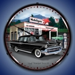1957 Chevy Mobilgas Wall Clock, LED Lighted