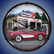 1957 Corvette and Mobilgas LED Lighted Clock