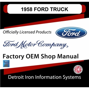 1958 Ford Truck OEM Manuals - CD