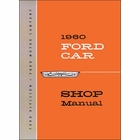 1960 Ford Fairlane, Galaxie, Starliner, Sunliner Shop Manual