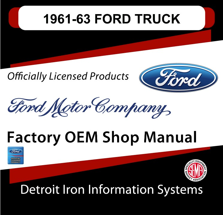 1961-1963 Ford Truck OEM Manuals - CD