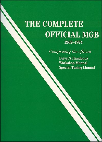 1962-1974 MGB Driver's Handbook, Workshop/Tuning  Manual