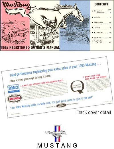 1964 Ford Mustang Owner's Manual
