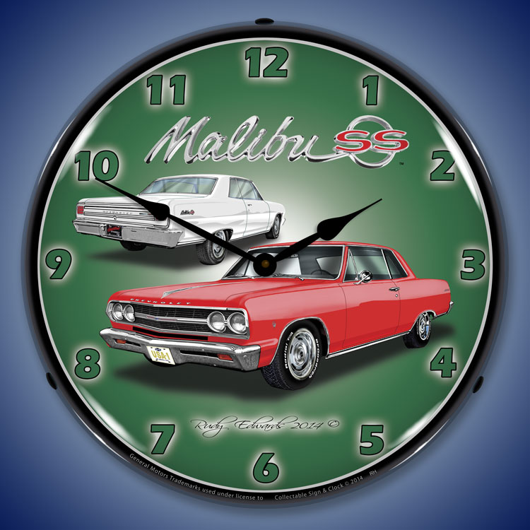 Chevy Malibu Interior Lights Wont Turn Off: Chevy Chevelle Wall Clocks, Lighted: 1965-1971, Super