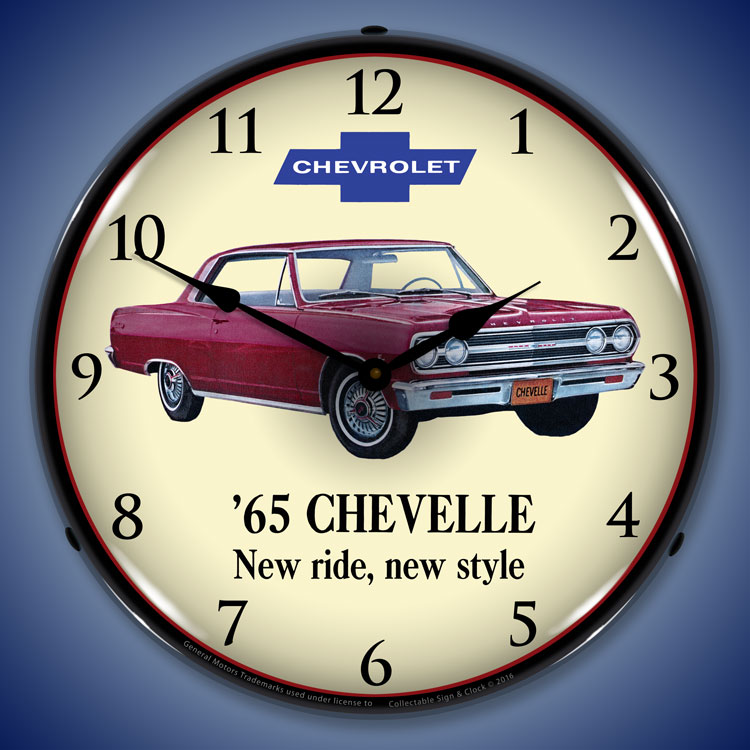Chevy Malibu Interior Lights Wont Turn Off: Chevy Chevelle Wall Clocks, LED Lighted: 1965-1971, Super