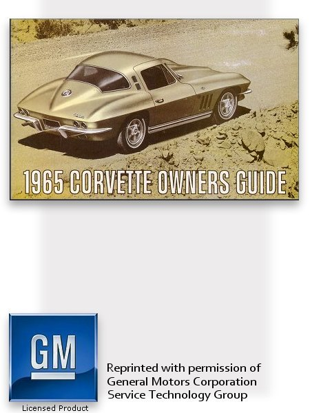 1965 chevrolet corvette owner s manual part no 3859589 rh themotorbookstore com corvette owners manual 2013 corvette owners manual 2015
