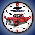 1965 Chevrolet Pickup Truck Wall Clock, LED Lighted