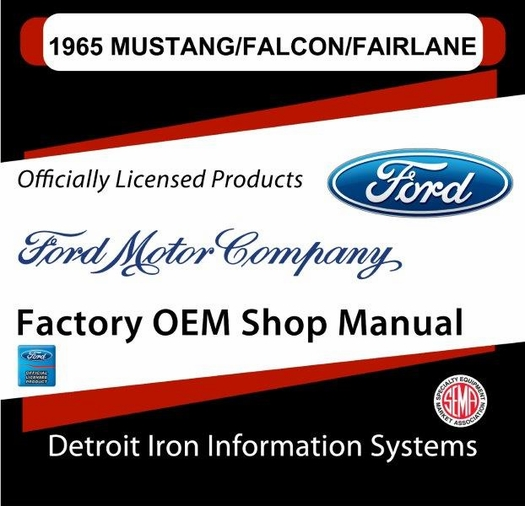 1965 mustang falcon fairlane factory oem shop manuals on 2 cds rh themotorbookstore com 1965 mustang shop manual free download 65 mustang shop manual pdf