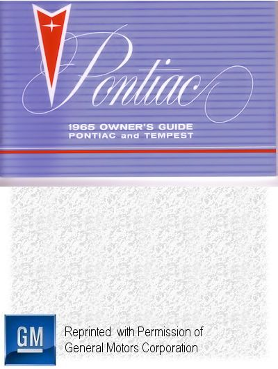 1965 Pontiac and Tempest Owner's Guide Reprint