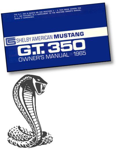 1965 Shelby GT350 Owner's Manual