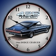 1966 Charger Hemi Wall Clock, LED Lighted