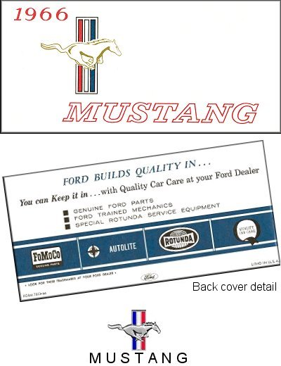 1966 ford mustang owner s manual the motor bookstore rh themotorbookstore com 1966 ford mustang owner's manual 1966 ford mustang owner's manual
