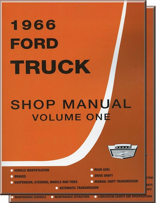 ford truck factory shop manual 1966 models factory service rh themotorbookstore com 1966 ford shop manual pdf 1966 ford shop manual pdf