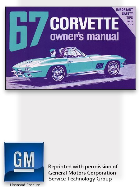 1967 chevrolet corvette owner s manual the motor bookstore rh themotorbookstore com general motors service manuals chilton general motors service manual 2004