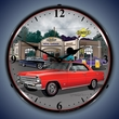 1967 Chevy Nova SS Wall Clock, LED Lighted, Sunoco