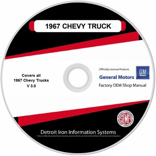 1967 Chevy Truck OEM Manuals - CD