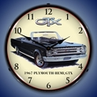 1967 Plymouth Hemi GTX Wall Clock, LED Lighted