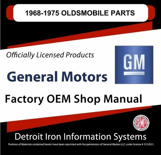 1968-1975 Olds Parts OEM Manuals - CD