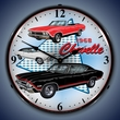 1968 Chevelle Wall Clock, LED Lighted