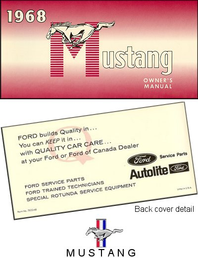 ford mustang owners manual  motor bookstore