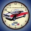 1969 AMC Rambler Wall Clock, LED Lighted