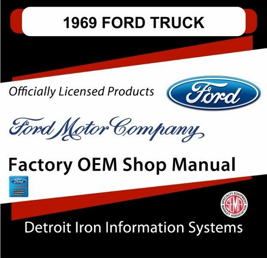 1969 ford truck factory oem shop manuals on cd pdf format rh themotorbookstore com ford oem manuals ford oem manual locking hubs