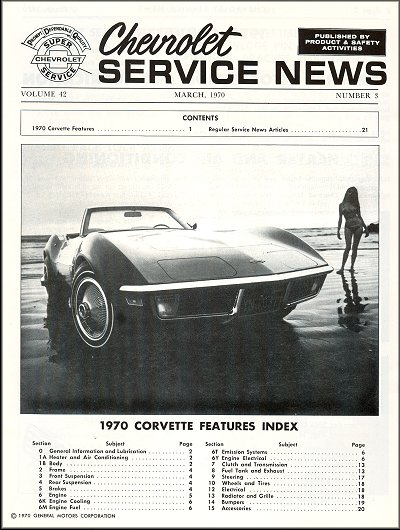 1970 chevrolet corvette supplement the motor bookstore rh themotorbookstore com