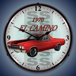 1970 Chevrolet El Camino Wall Clock, LED Lighted