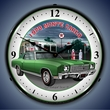 1970 Chevy Monte Carlo Green Wall Clock, LED Lighted, Texaco