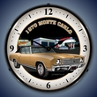 1970 Chevy Monte Carlo Wall Clock, LED Lighted, Texaco