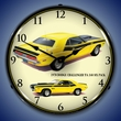 1970 Dodge Challenger TA 340 Six Pack Wall Clock, LED Lighted