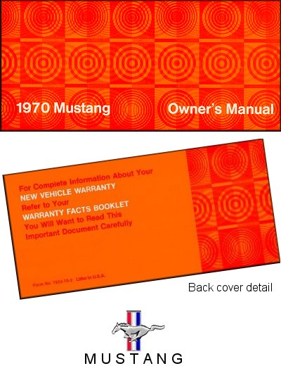 1970 Ford Mustang Owner's Manual