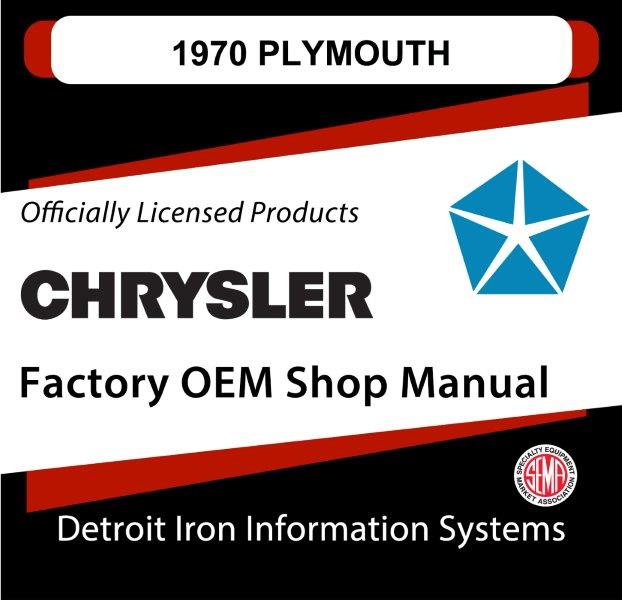 1970 Plymouth OEM Manuals CD