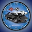 1971 Corvette Stingray (Black) Wall Clock, LED Lighted