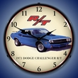 1971 Dodge Challenger RT Wall Clock, LED Lighted