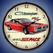 1971 Dodge Charger 440 6 Pack Wall Clock, LED Lighted