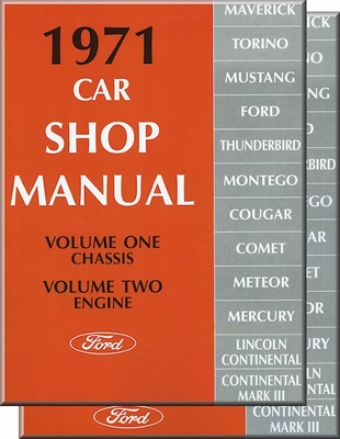 ford shop manuals ford factory manuals 1919 1970s rh themotorbookstore com Mercury Cougar Firing Order Mercury Cougar XR7