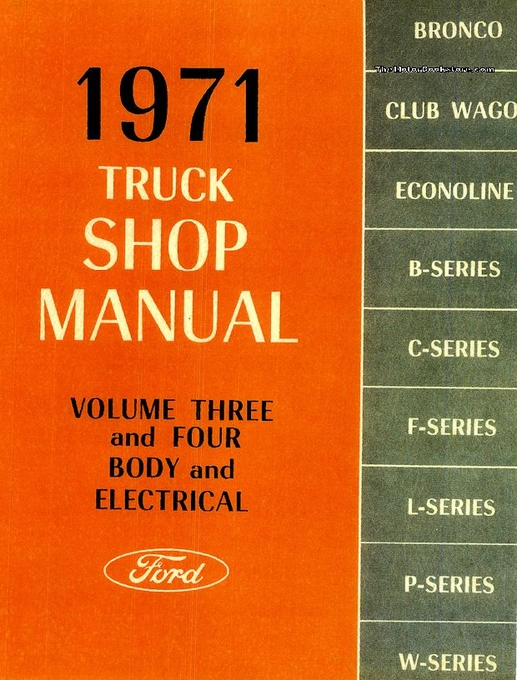 1971 ford truck factory shop manual f series bronco econoline rh themotorbookstore com 1971 ford f100 service manual 1974 Ford F100