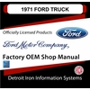 1971 Ford Truck OEM Manuals - CD