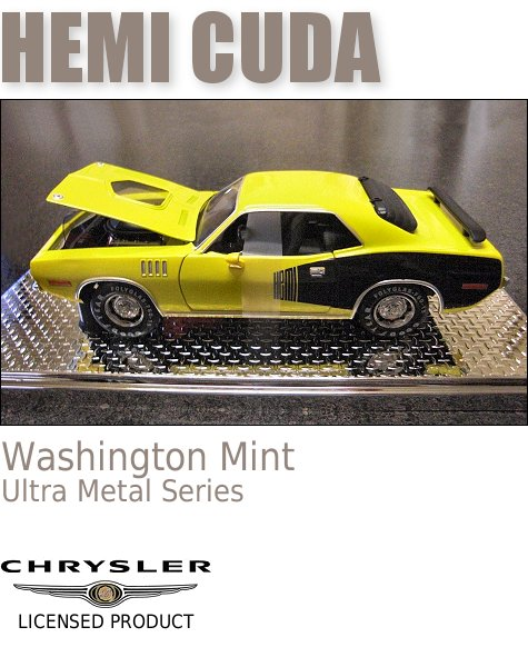 1971 Hemi Cuda 1/24-Scale Die-Cast Model