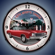 1972 Chevy Monte Carlo Wall Clock, LED Lighted, Mobilgas