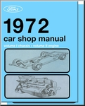 1972 Ford, Lincoln, Mercury Factory Shop Manual (5-Volume Set)