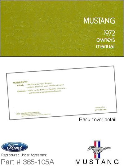 ford mustang owners manual ford motor company