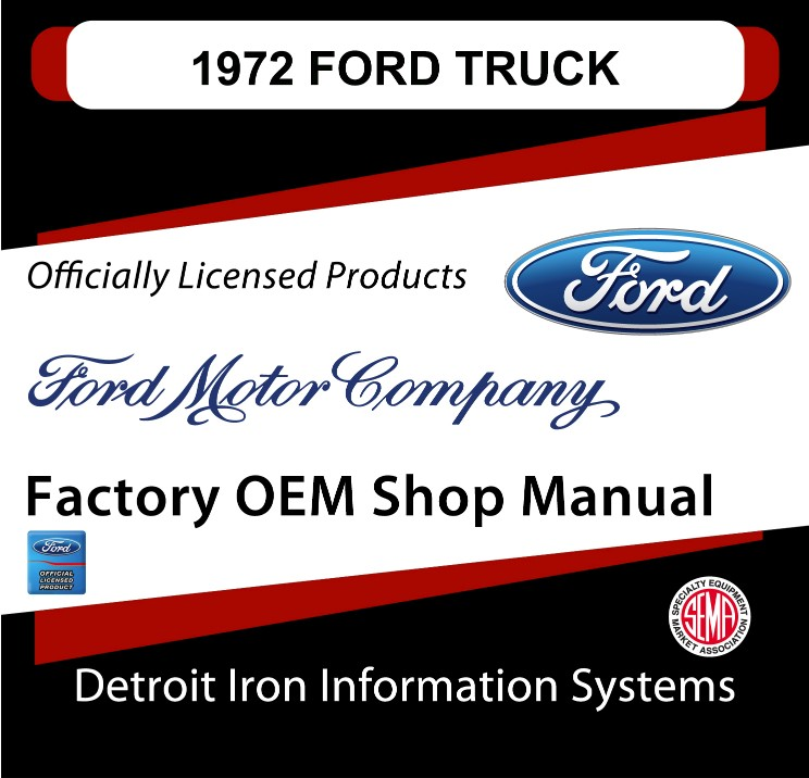 1972 Ford Truck OEM Manuals - CD